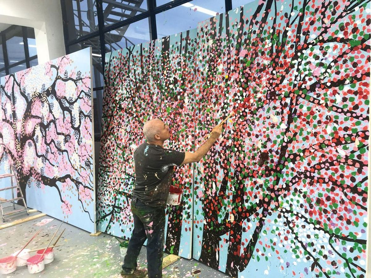 Damien Hirst's Cherry Blossom paintings to go on show at the Fondation Cartier in Paris next year