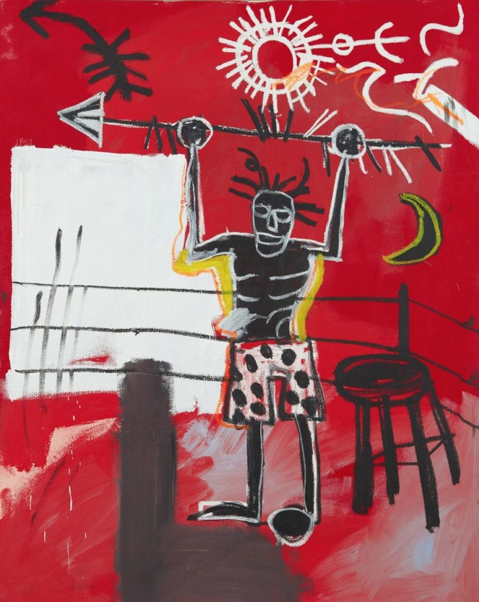 Basquiat's Painting of a Triumphant Warrior in a Boxing Ring Could Fetch $15 Million at Phillips This Fall