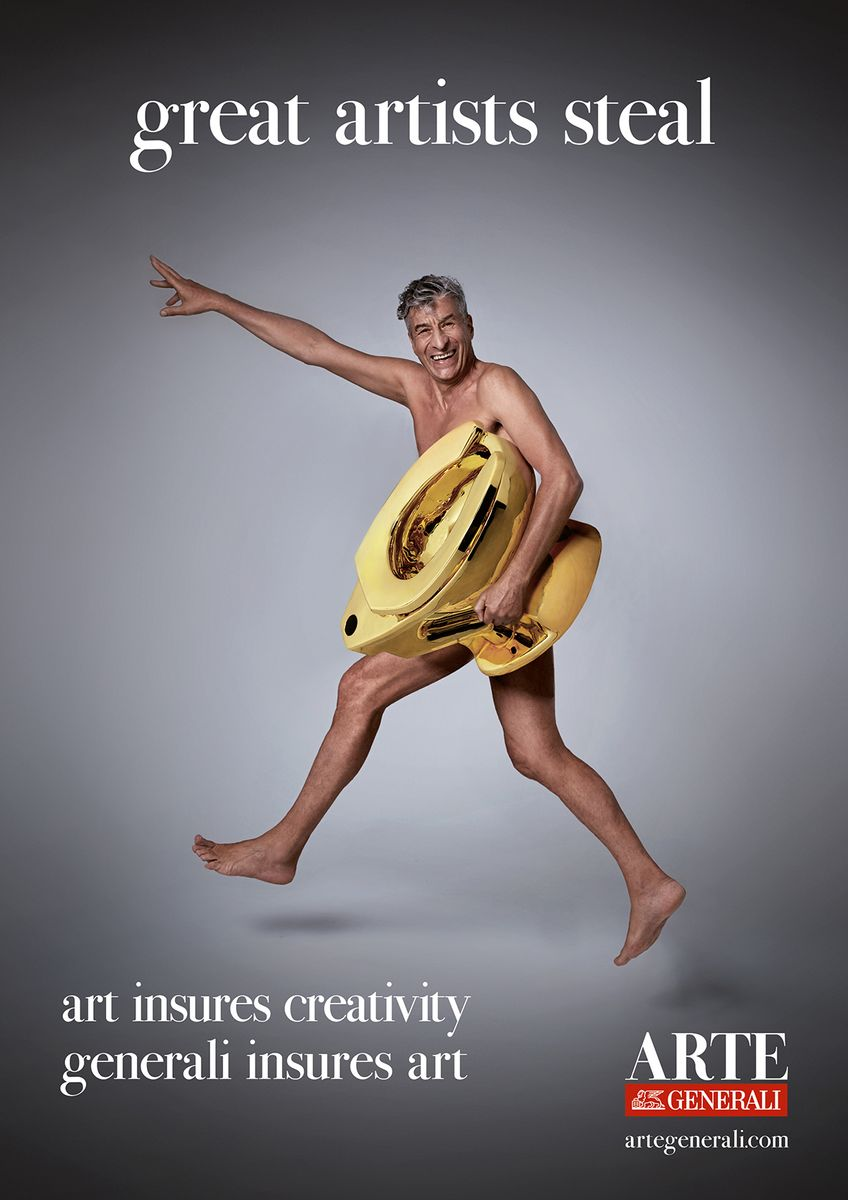 A Nude Maurizio Cattelan Is the Poster Boy for New Art Insurance Outfit Arte Generali