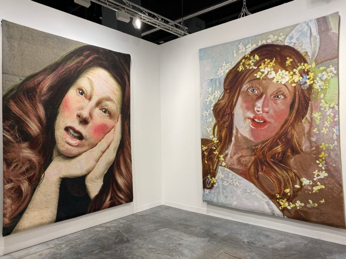Cindy Sherman Has Unveiled Her First Non-Photographic Works at Art Basel Miami Beach: Tapestries Based on Her Instagram