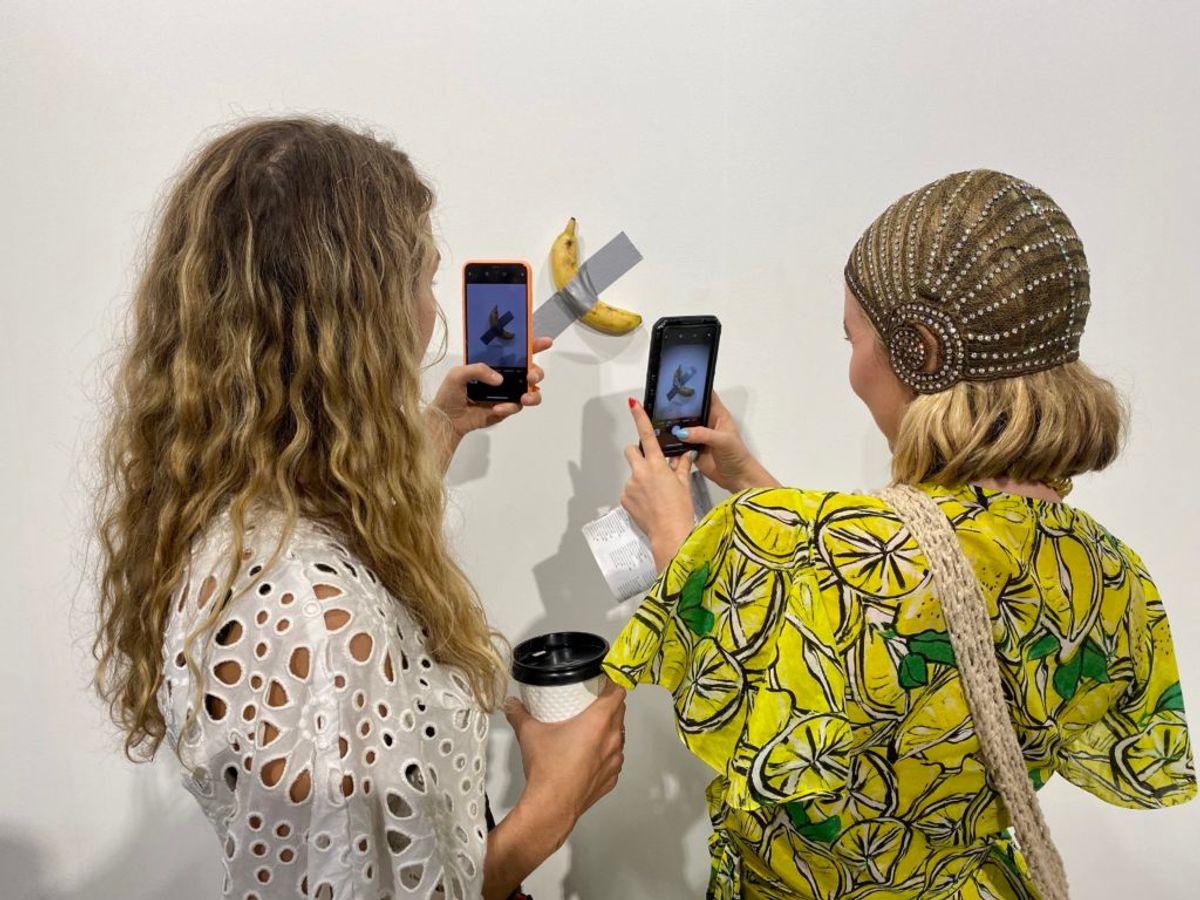 'Tasting Good': An Artist Just Ate One of Maurizio Cattelan's $120,000 Bananas Off the Wall in Miami