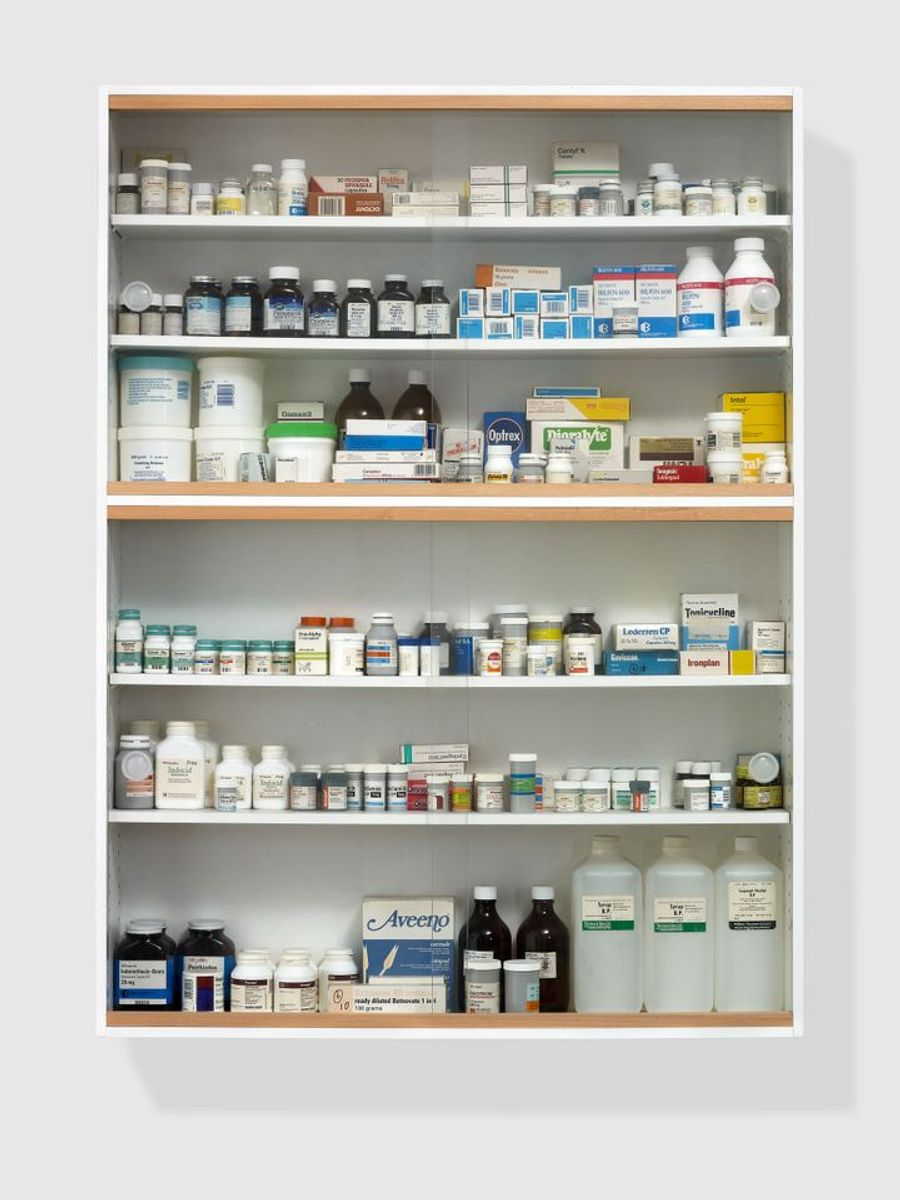 Damien Hirst medicine cabinet bought for £600 goes on sale for over £1m