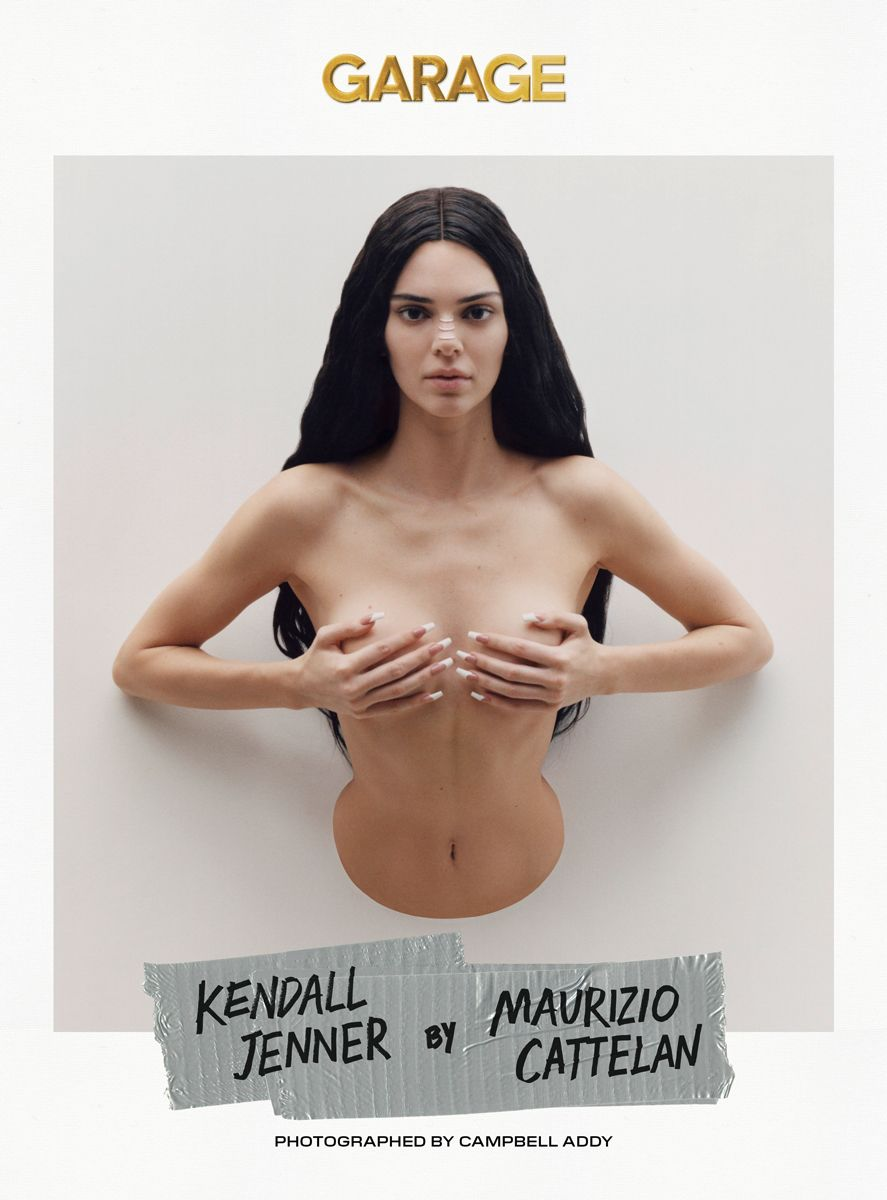 Maurizio Cattelan Imagines Kendall Jenner as a 'Trophy Wife' for Garage Magazine Cover