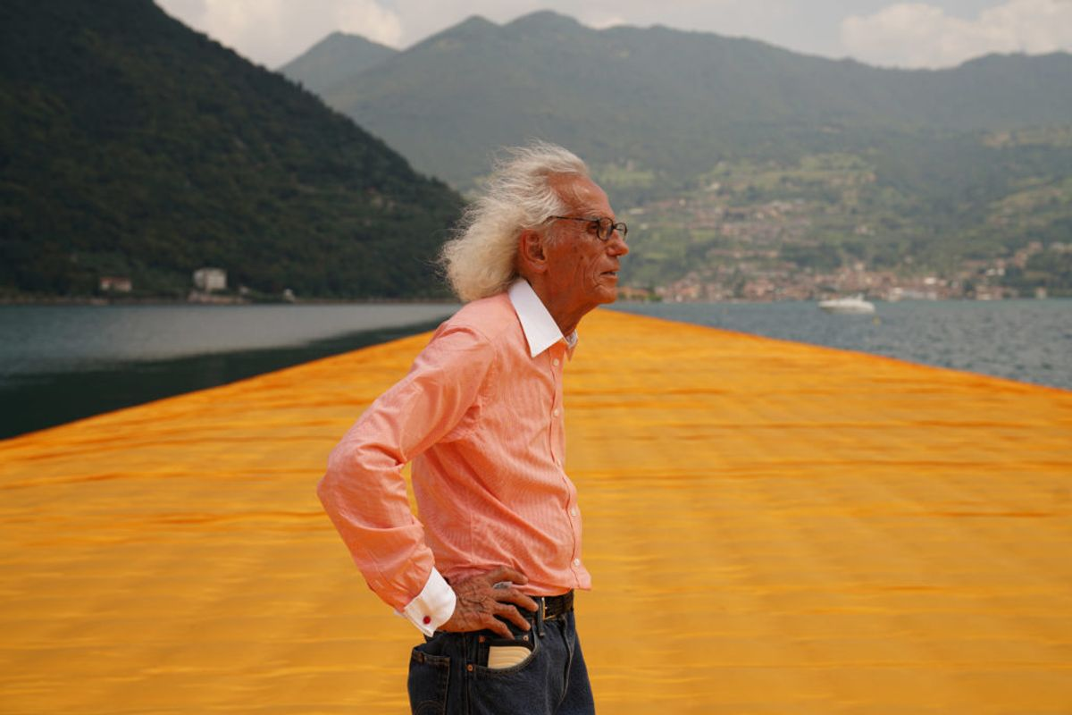 The Formidable Artist Christo Has Always Dreamed of Wrapping the Arc de Triomphe in Fabric. What's It Like to Have That Dream Come True?