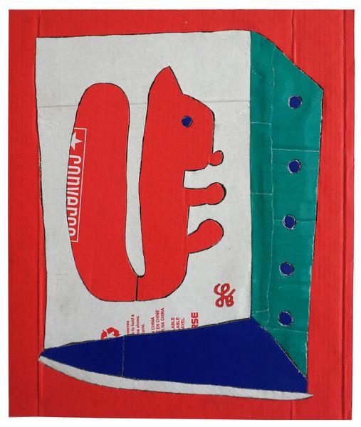 Skotøjsæske Mosaik - Egern (Shoe box mosaic - squirrel)